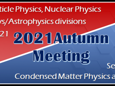 9/21(Tue.)The joint symposium (Area 8, Area 6) was held at the JPS 2021 Autumn Meeting.